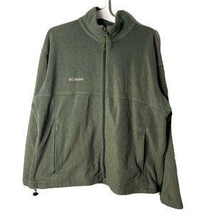 Columbia XXL 2X Green Mens Full Zip Fleece Jacket